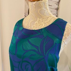 1. State Blue and Green Floral Shift Dress